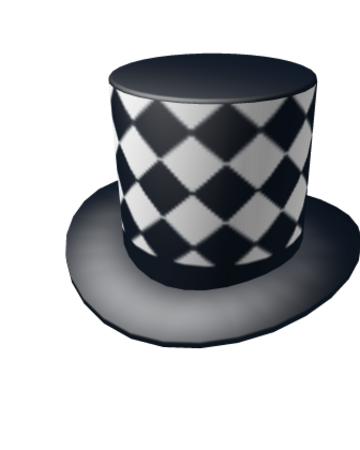 Black Top Hat Roblox Catalog Checkerboard Top Hat Roblox Wikia Fandom