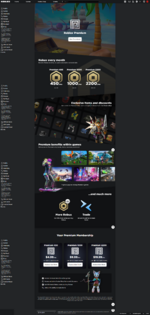 Roblox Premium Page (dark mode)