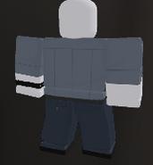 Униформа детектива полиц. сзади