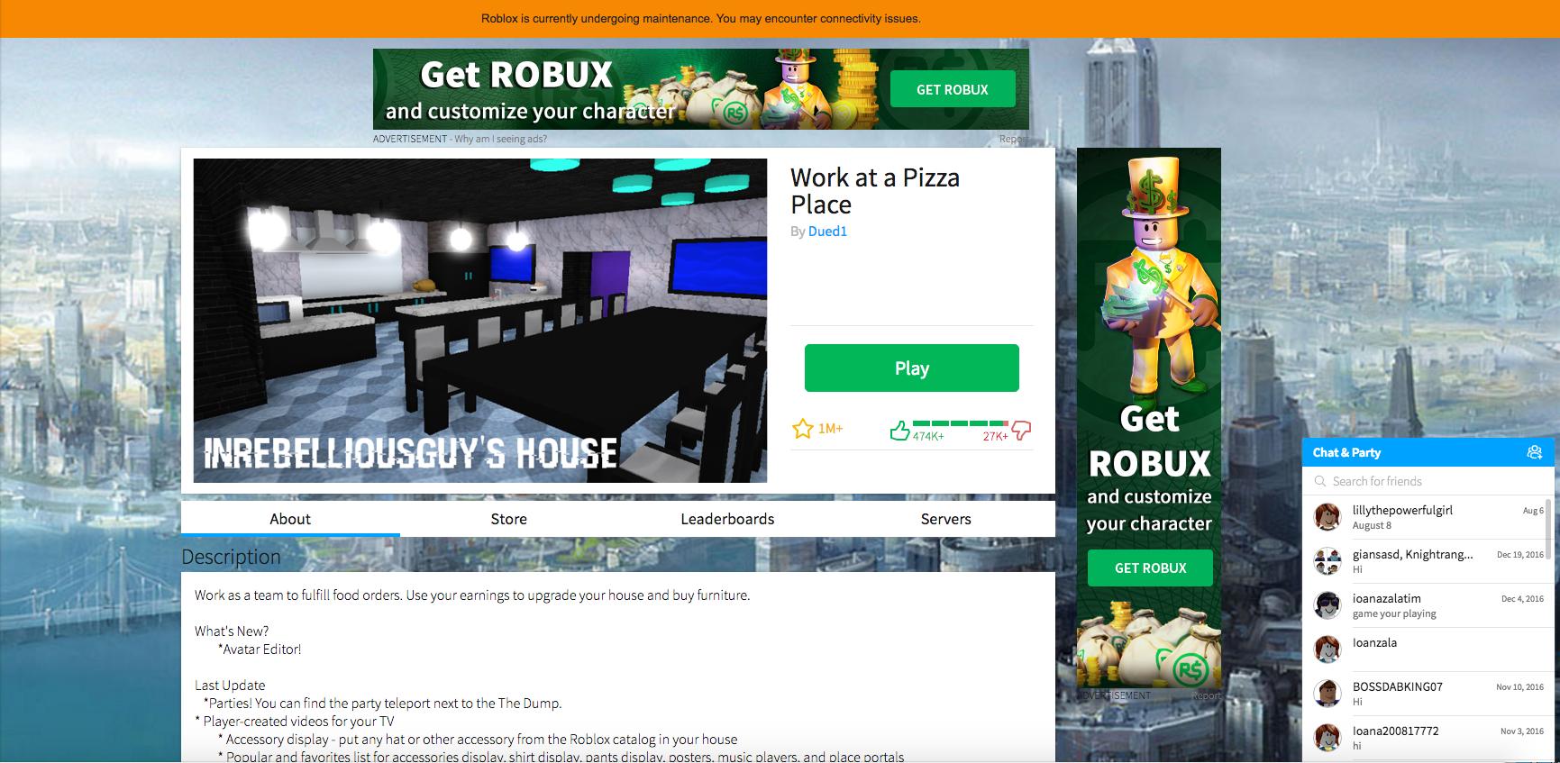 2015 Roblox Home Page Maintenance Roblox Wikia Fandom