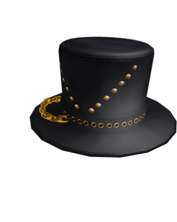 Roblox Card Hats Latest And Best Hat Models Catalog Black Top Hat With Chain Roblox Wikia Fandom