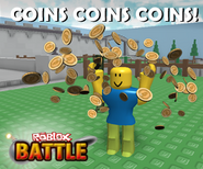 Roblox Battle COINS ad 2