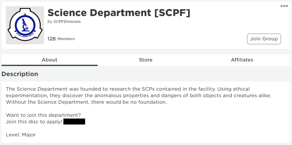 SCP groups