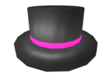 Catalog:Neon Pink Banded Top Hat