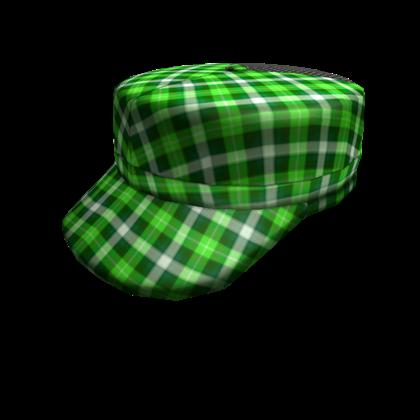 Bright Green Plaid Cap