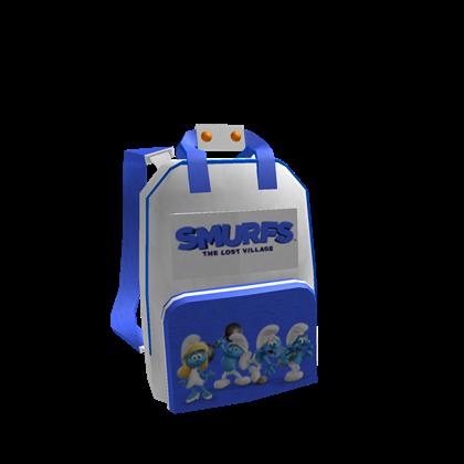 Roblox Backpack Free Catalog Smurf Backpack Roblox Wikia Fandom
