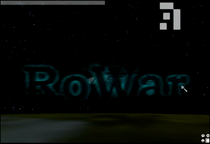 Main Title, showing the Space Cruise flying over Robloxia
