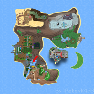 Lagoona Trenches on Roria Town Map.