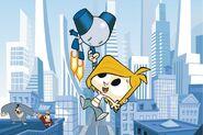 Robotboy and Tommy City Background