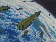 Warships at Earth