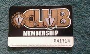 Robot Wars Club membership card