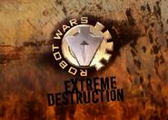Extreme destruction animated logo