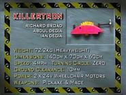 Killertron s1 stats