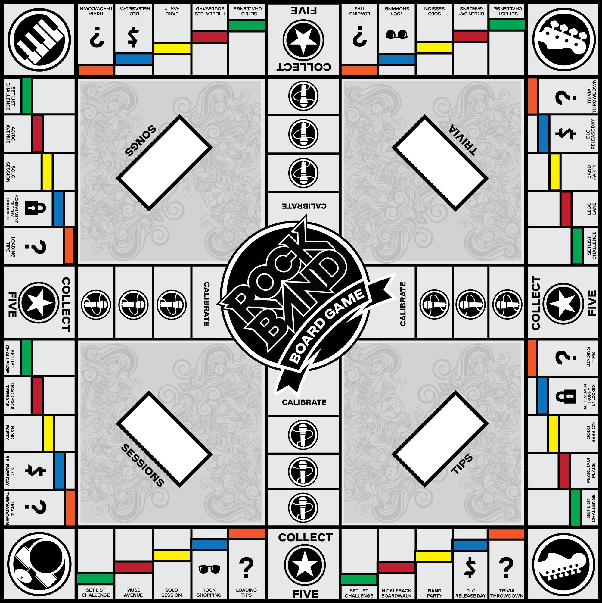 Rock Band Board Game