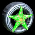 Asterias wheel icon forest green