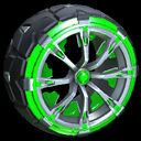 Truncheon wheel icon forest green