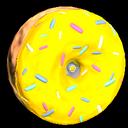Doughnut wheel icon saffron