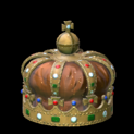 Royal crown topper icon burnt sienna