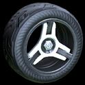Invader wheel icon titanium white