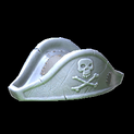 Pirates hat topper icon titanium white