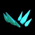 Stegosaur topper icon sky blue
