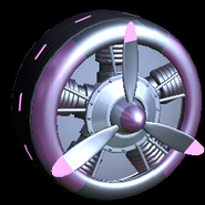 Propeller wheel icon pink