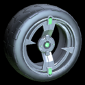 Zeta wheel icon forest green
