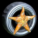 Asterias wheel icon burnt sienna