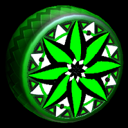Mandala wheel icon forest green
