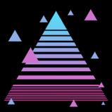 Vaporwave rocket boost icon