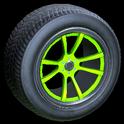 OEM wheel icon lime