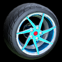 Quimby wheel icon sky blue