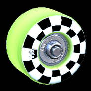 Sk8ter wheel icon lime
