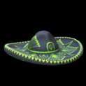 Mariachi hat topper icon lime