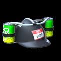 Drink helmet topper icon black