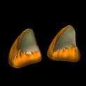 Wildcat ears topper icon burnt sienna