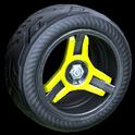 Invader wheel icon saffron