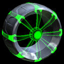 Picket Holographic wheel icon forest green