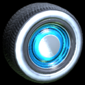 Ratrod wheel icon sky blue