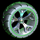 Wrench-Roller wheel icon forest green