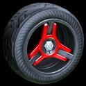 Invader wheel icon crimson
