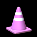 Traffic cone topper icon pink