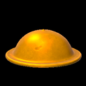 Brodie helmet topper icon orange