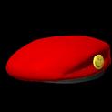 Beret topper icon crimson