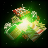 Happy Holidays goal explosion icon