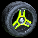 Invader wheel icon lime