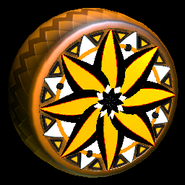 Mandala wheel icon orange