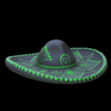 Mariachi hat topper icon forest green