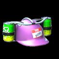 Drink helmet topper icon pink