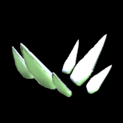 Stegosaur topper icon titanium white